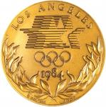 1984 Los Angeles Olympic Games Participants Medal. Bronze. 60 mm. Gadoury-2. Mint State.