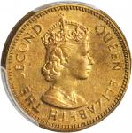 1965年香港一毫错版 HONG KONG. 10 Cents, 1965. Mint Error. PCGS MS-63 Gold Shield.
