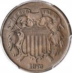 1873 Two-Cent Piece. Close 3. Proof-30 (PCGS).