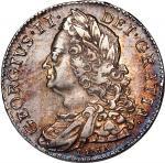 1746年英国半克朗银币,GEF,有些许刮痕