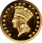 1880 Gold Dollar. MS-68 DPL (NGC).