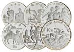 1994-1995年中国纪念银币一组六枚