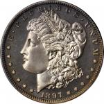 1897 Morgan Silver Dollar. Proof-66 Cameo (PCGS). CAC.