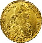 COLOMBIA. 1820-JF-P 8 Escudos. Santa Fe de Nuevo Reino (Bogotá) mint. Ferdinand VII (1808-1833). Res