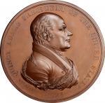 1825 John Quincy Adams Indian Peace Medal. Copper, Bronzed. First Size. Second Reverse. Julian IP-11