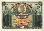 SPAIN. El Banco de Espana. 50 Pesetas, 1907. P-63a. Very Fine.