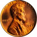 1941 Lincoln Cent. FS-102. Doubled Die Obverse. MS-66 RD (PCGS).
