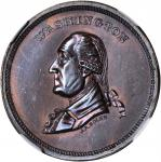(C. 1879) Muling of J.A. Bolen's Washington and Joseph Merriam's Lincoln dies. Copper. 28mm. Musante