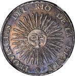 ARGENTINA. 8 Soles, 1815-PTS FL S/R. NGC AU-53.