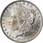 1887/6-O Morgan Silver Dollar. VAM-3. Top 100 Variety. MS-64 (PCGS). CAC.