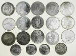 Miscellaneous 19th and 20th Century world silver coins (18), including Austria, Maria Theresa restri