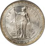 1930-B年英国贸易银元站洋一圆银币。孟买铸币厂。GREAT BRITAIN. Trade Dollar, 1930-B. Bombay Mint. PCGS MS-64+ Gold Shield.
