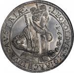 AUSTRIA. Taler, 1632. Hall Mint. Archduke Leopold. NGC MS-66.