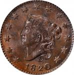 1820 Matron Head Cent. N-13. Rarity-1. Large Date. MS-64 BN (PCGS). OGH.