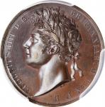GREAT BRITAIN. George IV Coronation Bronze Medal, 1821. London Mint. PCGS SPECIMEN-64 Gold Shield.