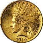 1914 Indian Eagle. MS-64 (PCGS).