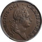 1724 Woods Hibernia Halfpenny. Martin 4.67-K.2, W-13690. Rarity-5. AU-55 (PCGS).