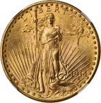 1914-D Saint-Gaudens Double Eagle. MS-63 (NGC).