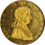 AUSTRIA. 4 Ducat, 1839-A. NGC MS-63 PL.