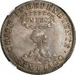 CHILE. Peso, 1819-SANTIAGO FD. Santiago Mint. NGC EF-40.