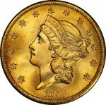 1857-S Liberty Head Double Eagle. Bold S. MS-67 (PCGS). CAC.