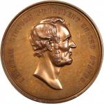 1871 Abraham Lincoln Emancipation Proclaimed Medal. Bronzed Copper. 45 mm. King-232, Cunningham-7-06