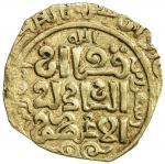 GREAT MONGOLS: Anonymous, ca. 1220s-1245s, AV dinar (2.83g), Astarabad, ND, A-1966, al-qa an / al- a