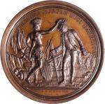 1781 (post 1839) Daniel Morgan at Cowpens Medal. Barre Copy Dies. Bronze. 56.3 mm. 76.4 grams. Betts