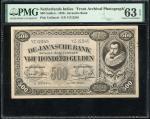 Netherlands Indies, De Javasche Bank, a pair of uniface obverse and reverse archival specimen photog