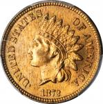 1872 Indian Cent. Bold N. MS-65 RB (PCGS).