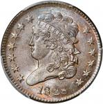1828 Classic Head Half Cent. 13 Stars . MS-64 BN (PCGS).