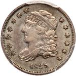 1835 Capped Bust Half Dime. Small date, large 5¢. PCGS EF45
