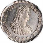 MEXICO. 1/2 Real, 1809-Mo TH. Mexico City Mint. Ferdinand VII. NGC MS-64.