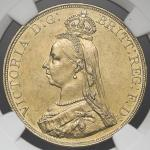 "GREAT BRITAIN Victoria ヴィクトリア(1837~1901) 5Pounds 1887 NGC-AU Details""Cleaned"" 洗浄 EF"