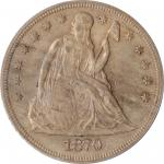1870-CC Liberty Seated Silver Dollar. OC-7. Rarity-5. AU-50 (PCGS). OGH.