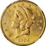 1906-D Liberty Head Double Eagle. MS-63 (NGC).