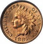 1885 Indian Cent. MS-65 RD (PCGS).