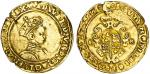 Edward VI (1547-53), Half-Sovereign, Tower II, Second period, 5.03g, mm. grapple, edward?vi d?g?agl?