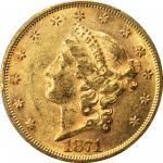 1871 Liberty Head Double Eagle. AU-58 (PCGS). CAC.