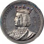 1893 Isabella Quarter. Proof-65 (NGC).