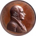 1825 (Post-1861) John Quincy Adams Indian Peace Medal. Medium Size. Bronze. 62.5 mm. Julian IP-12. S
