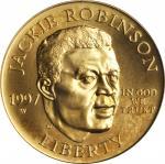 1997-W Jackie Robinson Gold $5. MS-70 (PCGS).
