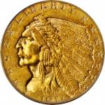 1911-D Indian Quarter Eagle. MS-62 (PCGS). CAC.