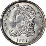1831 Capped Bust Dime. JR-3. Rarity-1. MS-66+ (PCGS).