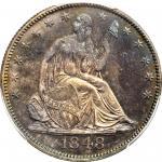 1848 Liberty Seated Half Dollar. Proof-65 (PCGS).