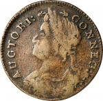 1787 Connecticut Copper. Miller 34-ff.1, W-4060. Rarity-5. Draped Bust Left. VF-20 Reverse Rough.