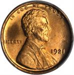 1921 Lincoln Cent. MS-66+ RD (PCGS). Secure Holder.