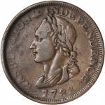 """1783"" (Circa 1820) Washington Unity States Cent. Musante GW-104, Baker-1, W-10130. Rarity-1. VF-30."