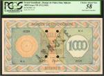 FRENCH SOMALILAND. Banque de lIndo-Chine, Djibouti. 1000 Francs, ND (1945). P-18. PCGS Currency Choi