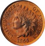 1866 Indian Cent. MS-64 RD (PCGS).